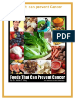 Foods that can help in cancer prevention