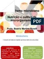 Nutrição, cultura e metabolismo microbiano