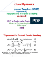 Lecture 9 SD Single Degree of Freedom System Periodic Loading