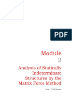 statically indeterminate structures by the matrix force method-3