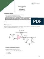 (I 2019) Parcial 1 Electrónica II