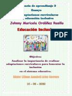 ORDOÑEZ JOHNNY_ Ensayo. Las adaptaciones curriculares y la educación inclusiva