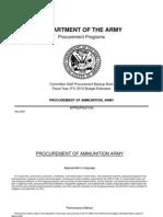 FY 2010 Budget Estimates(MAY2009) - Procurement of Ammunition - Army