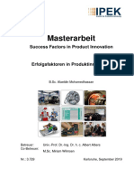 Masterarbeit Success Factors in Product Innovation