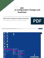 DeltaV System Configuration Changes and download