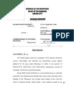 Court of Tax Appeals Jurisprudence