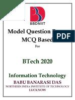 BBDNIIT IT 2020 MCQ DB