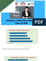 1 year MBA Campus Placements  | 1 year MBA Salary IIM Ahmedabad IIM Bangalore IIM Calcutta ISB