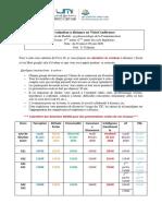 calendrier- Evaluation à distance en VisioConférence- 4ème année ENSAM mai 2020