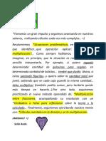 Divisiones y multiplicaciones en situaciones problemáticas - Multiplicación entre fracciones-C.mental
