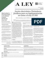 ESTÁNDARES JURÍDICOS RECETA ELECTRÓNICA