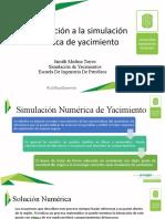 Introduccion a la Simulacion Numerica de Yacimientos