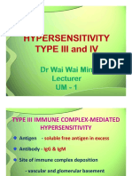 Hypersensitivity reactions III  IV