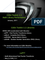 CUDA 3.2 Math Libraries Performance