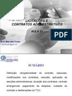 AULA 01 - Licitações e Contratos