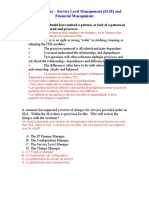 ITIL V2 Questions - Service Level Management (SLM) and Financial Management