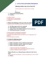 ITIL V2 Questions - Service Desk and Incident Management.doc