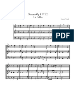 Trio sonata in D minor - La follia - Score