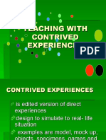 TEACHING WITH CONTRIVED EXPERIENCES.ppt