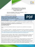 Guía de actividades y rúbrica de evaluación - Unidad 1 - Fase 2 - Repensar la sociedad desde la Sociología