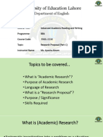 Academic reading & Writing -Research Proposal 1