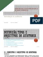 II CAP Definição, tipos e objectivos da Auditoria