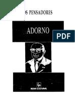 Adorno - Col Os Pensadores