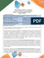 Syllabus del curso Legislación Laboral