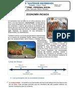 XII SEMANA-4TO PRIMARIA-PS III BIM - ECONOMÍA INCAICA I