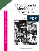Victoria Sau - Diccionario Ideológico Feminista - Vol I - Icaria editorial, S. A. - 2000 - (3ª edición)