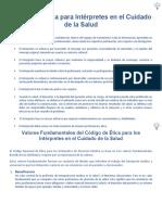 Código de Ética para Intérpretes en el Cuidado de la Salud