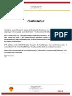 Communiqué de l'USO sur le report du match entre Orléans et Avranches
