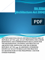 Review - (Irr) of Republic Act No. 9266
