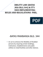 Review - Accessibility Law (Batas Pambansa Blg.344) & It's Ammended Implementing Rules and Regulations- Phil.