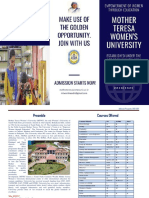 final Admission Brochure. MTWU