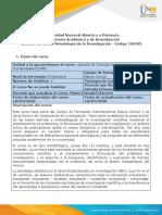 Syllabus del curso Metodología de la Investigación