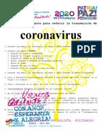 9 CONSEJOS CORONAVIRUS