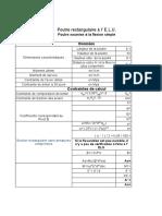 Progamme Section Rectangulaire