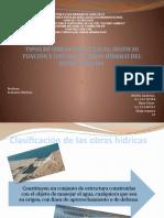 Tipos de obras hidráulicas. Según su función y uso del recurso hídrico del estado falcón.pptx