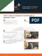 Cómo sustituir el cubo de la rueda trasera Peugeot 407