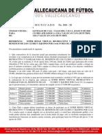 COMUNICADO      No. 008 - 20