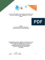 Evaluación aspecto económico del proyecto _Listas Chequeos RSE Ambiental y Social