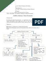 Actividad  10  Analisis Sintesis e Ideas Principales