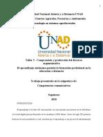 Taller 5 - Comprensión y producción del discurso argumentativo