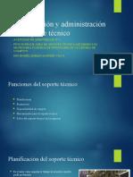 actividad de aprendizaje N° 6,7 funciones del soporte tecnico en empresa y centro de computo
