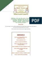 Nibble Nursery - Rabbit Care - Health
