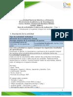 Guia de actividades y Rúbrica de evaluación - Unidad 1- Fase 1 - Introducción a la Gestión Integral de Residuos Sólidos
