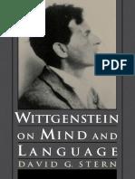 Stern- Wittgenstein on Mind and Language