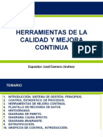 HERRAMIENTAS DE CALIDAD Y MEJORA CONTINUA - JOSE CAMERO - PRESENTACION