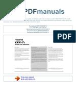 user-manual-ROLAND-EXR-7S-E.pdf